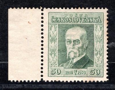 Masaryk 1923/176, P 5, Jubilejní, krajová, kartonový papír, z/19.63481