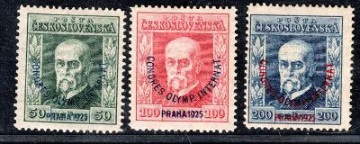 Masaryk 1923/180 - 2, P 8,5,6, Olympijský kongres, kompletní /19.69899