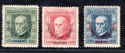 Masaryk 1923/180 - 2,, Olympijský kongres, kompletní řada/19.69901
