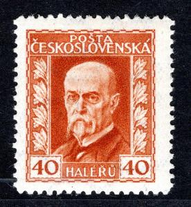 Masaryk 1923/187 B, P 1, neotypie, TGM, oranžová 40 h/19.62668