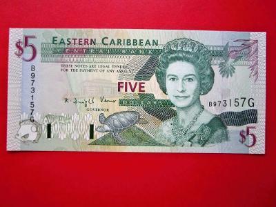 175* 5Dollars - 2008 - Východní Karibik - UNC!