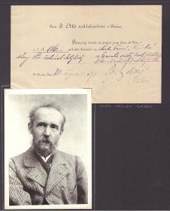 Sládek Josef Václav (1845-1912), český spisovatel, sběratelský list