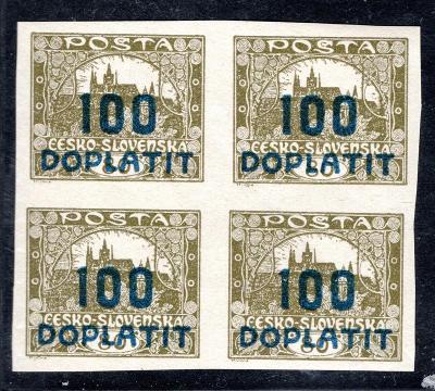 Doplatní/DL 24, doplatní, 4 blok 100/80 olivová/19.45128