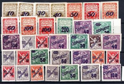 Doplatní/sestava doplatních známek  na destičce formátu A 5, /19.66355