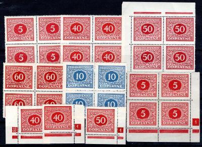 Doplatní/sestava  svěžích doplatních známek  na destičce form/19.67583