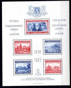Exilové aršíky/1943 Londýnský aršík Exilové vlády v Londýně k/19.39558