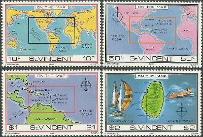 St. Vincent - nezávislý 1980 č.43-46, mapa