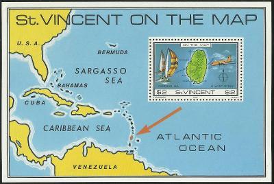 St. Vincent - nezávislý 1980 č.46, mapa