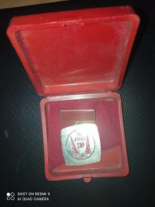 Medaile vítěz socialistické soutěže u příležitosti 35.vyroci SNP