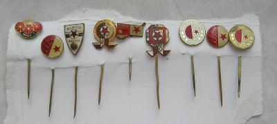 Soubor odznaků - SLAVIA