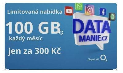 Datamanie sim karta 02 100gb mesicne