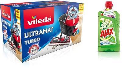 Nefunkční a pouze pro podnikatele: Mop VILEDA Ultramat TURBO + Ajax