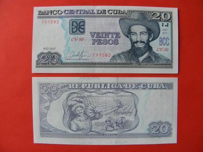 20 Pesos 2019 Cuba - P122m - UNC - /I280/