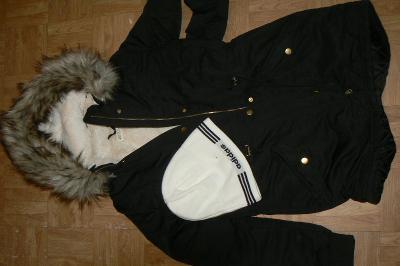 Dívčí zimní bunda vel. 164-170, zn. H&M, vel. 14+, vel. XS