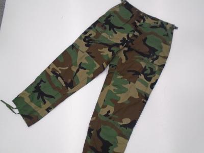 Originál. US Army kalhoty v mask. Woodland, MS, Rip-stop, poškozené