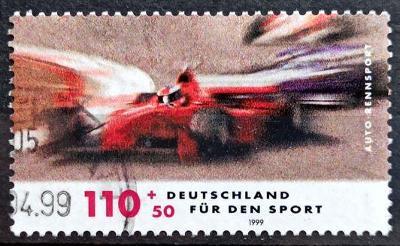 DEUTSCHLAND: MiNr.2032 Cars 110pf+50pf, Racing Sports 1999