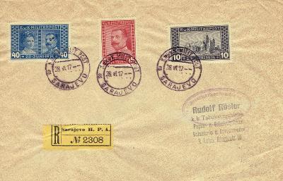 RAKOUSKO - Bosna, r.1917, č.121-23, R-dopis