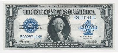 USA 1 Dollar, 1923, Silver Certificate, krásná zachovalost, stav 0/1