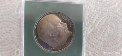 Pamětní mince 50Kč 1970 stříbrná 100.výročí Lenin PROOF