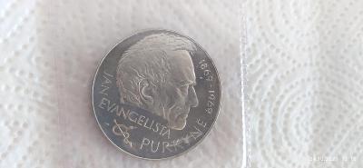 Pamětní mince 25Kč 1969 stříbrná 100. výročí Purkyně PROOF