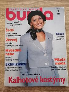 časopis - BURDA 1/1996 + střihy