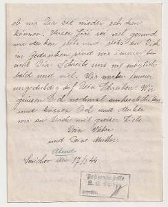 Německo, Koncentrační tábor Dachau, 2stránkový dopis zaslaný 17.3.1944