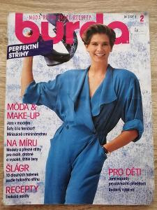 časopis - BURDA 2/1991 + střihy