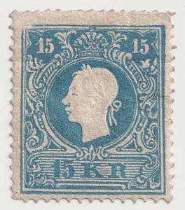 Rakousko,1858, 15 Kr Franc Josef, typ II., horší jakost,vysoký katalog