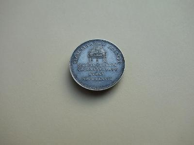 FJI. - AR  Malý Žeton na korunovaci Uherským králem 1867 !