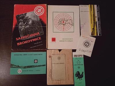 ČZ SAMOČINNÁ BROKOVNICE vz.241 Prospekt ke zbrani 1948, Kozlice