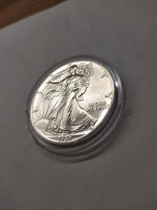 Investiční stříbrná mince American Eagle 1oz 1989