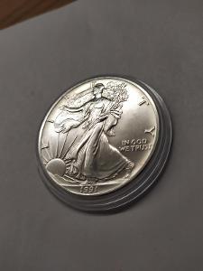 Investiční stříbrná mince American Eagle 1oz 1991