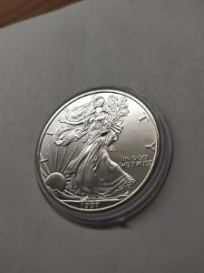 Investiční stříbrná mince American Eagle 1oz 1997