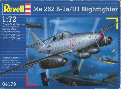 Messerschmitt Me 262 B-1a/U1 Nightfighter 1/72 Revell + plechy Eduard