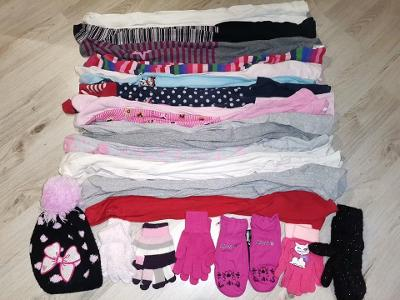 Dívčí set-punčocháče, rukavice a čepice