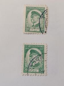 poštovní známky - 285   50 hal Masaryk 2 ks