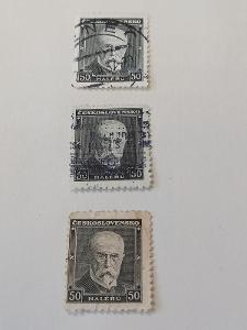 poštovní známky - 324    40 hal Masaryk  3 ks