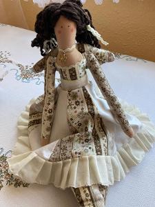 Dekorativní panenka andělka délka 62cm