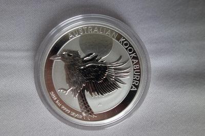 Stříbrná investiční mince 1 Oz Kookaburra (Ledňáček) 2018
