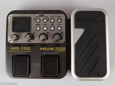 NUX MG-100 Kompaktní programovatelný kytarový efektový pedál s DSP/1Kč