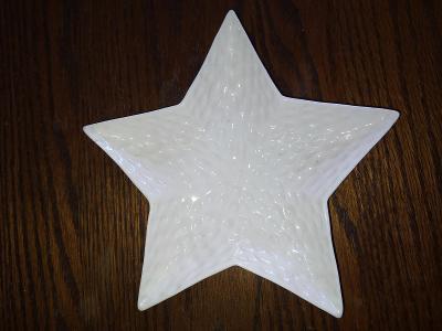 Ozdobný tácek Hvězda - Vánoce - pod svíčku
