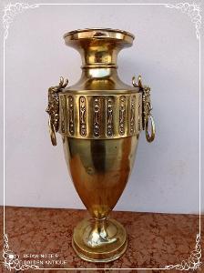 *** Starožitná bronzová zdobená empírová váza - pohár ***