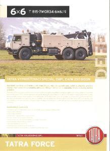 Tatra 815 -7 6x6.1  BISON , prospekt , 2 strany , česky