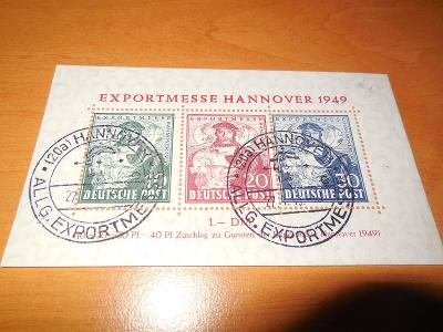 Aršík BRD č. 1  razítkovaný,  350 EUR