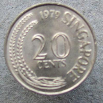 Singapur 20 centů 1979