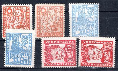 Sov. Zóna /Sovětská zóna  - Mi. 26 - 8, a + b, Dětem, obě barv/2445/10