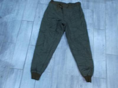Vojenské spodní zateplené , vatované kalhoty vel.2- od 1kč