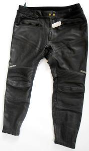 Kožené zkrácené kalhoty CAFÉ RACER - vel. 28, pas: 102 cm