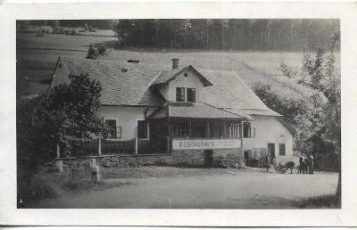 Klepáčov - část obce Sobotín - restaurace , okr. Šumperk