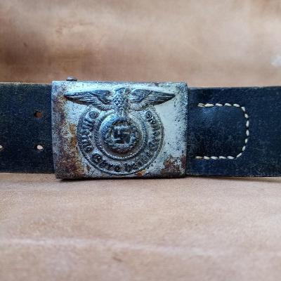 Přezka Waffen SS ocelová 155/43 s opaskem 100cm original